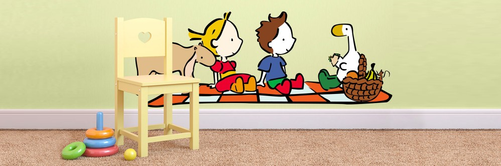 Wall stickers - Goose and friends