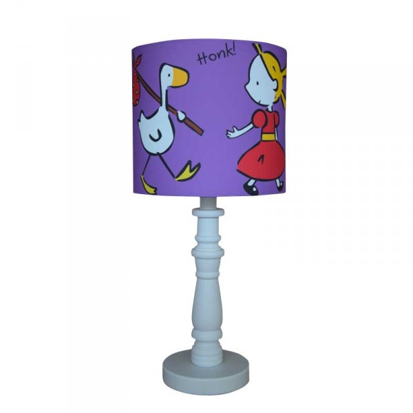 Off For A Walk lampshade design