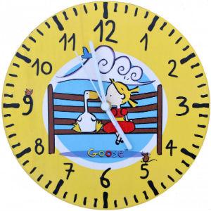 Yellow Goose Clock