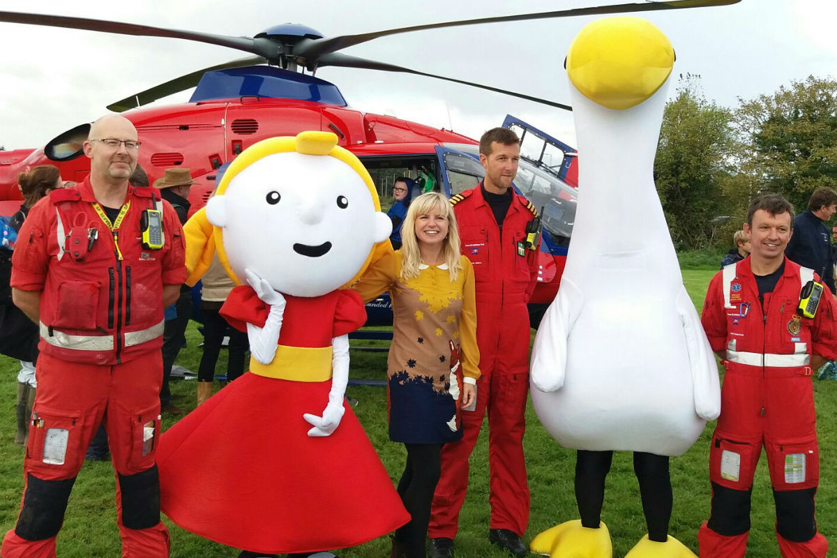 Goose & Sophie with the Air Ambulance