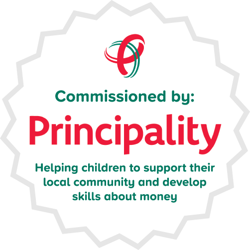 Commissioned by Principality Building Society. Specially commissioned by Principality Building Society: helping children to support their local schools and community and develop skills about money.